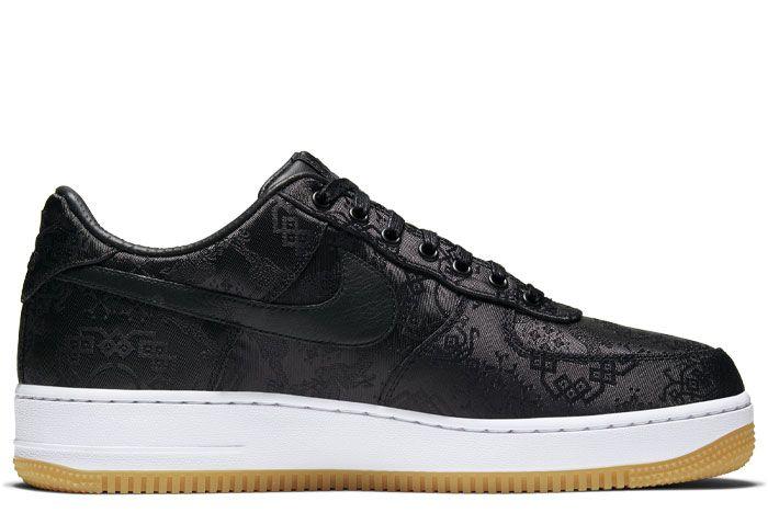 Nike Air Force 1 Clot Black Silk Right Medial