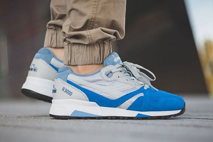 Diadora N9000 Grey Skydiver Blue 2