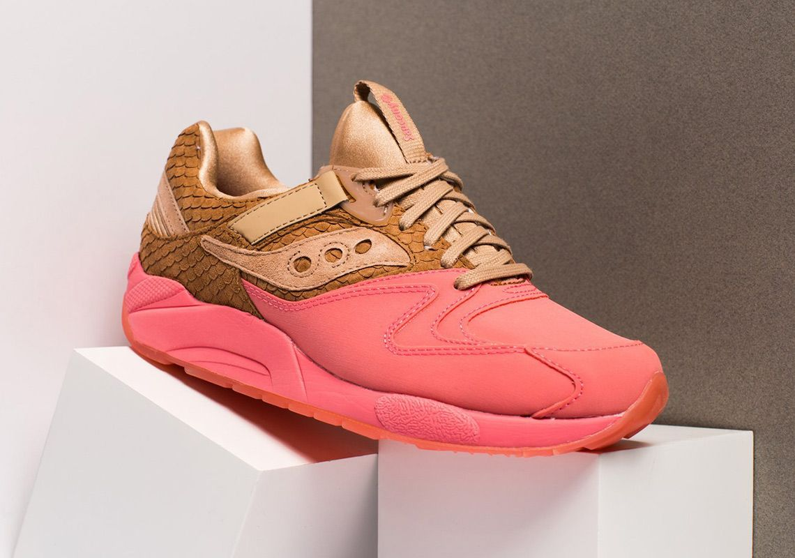Saucony Grid 9000 Suede Fishscale Pink 1 Sneaker Freaker