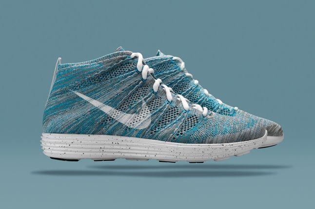 Nike Htm Flyknit Chukka Blue Profile 1
