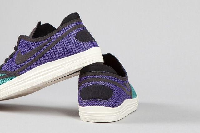 Nike Sb Lunar One Shot Woven Mint Hyper Purple 1