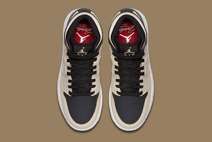 Air Jordan 1 High Prm Pearl Gold5