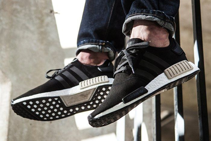 Adidas Nmd R1 Foot Locker Exclusive Black Light Brown Sneaker