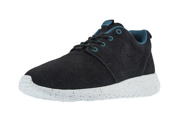 Nike Roshe Run Black Suede Perf Swoosh 1