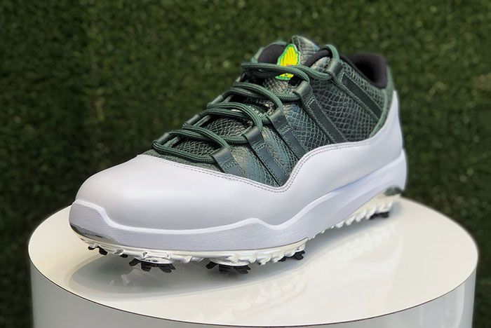 Air Jordan 11 Low Golf Masters Augusta Release Date 1 1 Side Angle