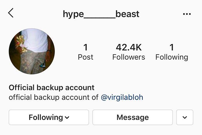 Virgil Hack Account Screenshot