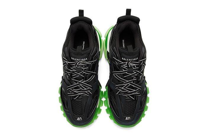 Balenciaga Track Sneaker Black Neon Green Top Shot