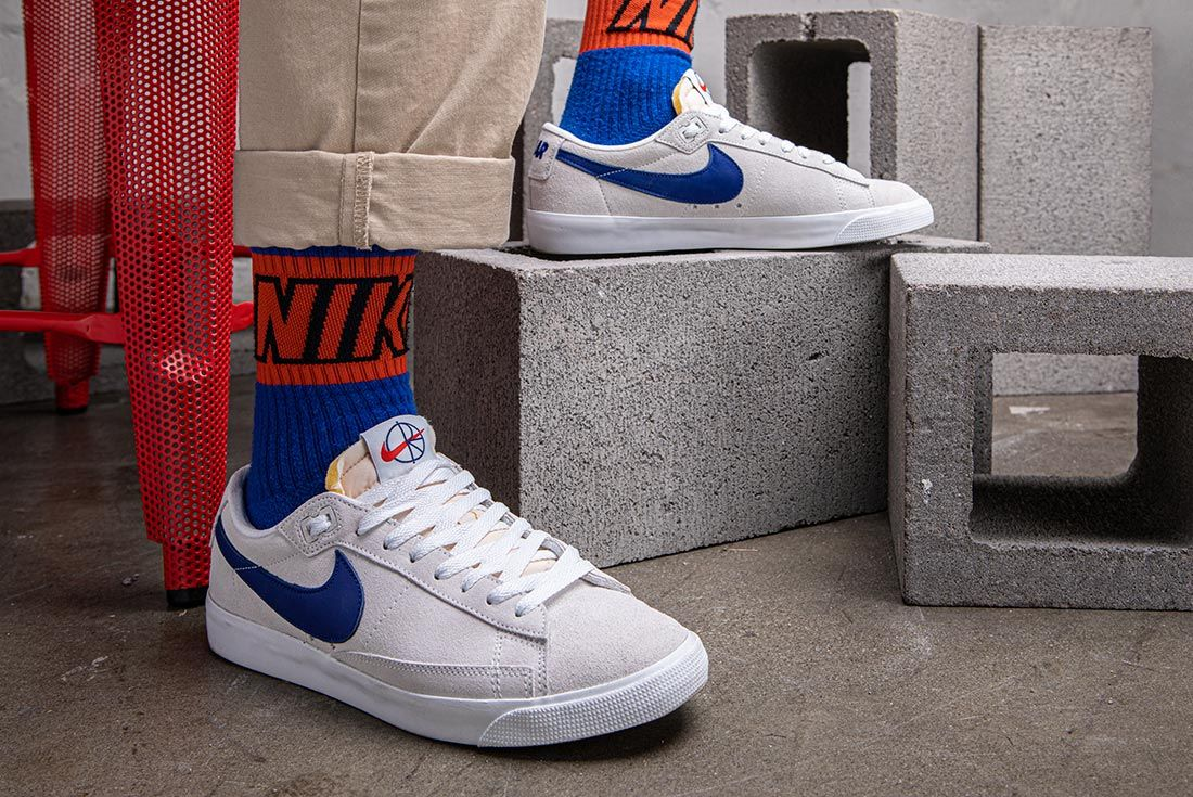 Polar Nike Sb Blazer Low On Foot