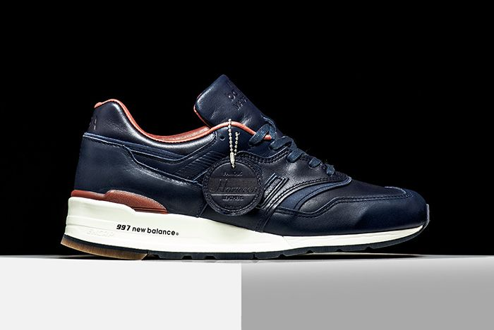 New Balance 997 Horween Leather Navy2
