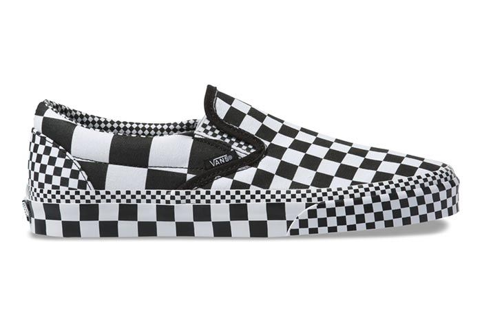 Vans Slip On All Over Checkerboard Right Side View