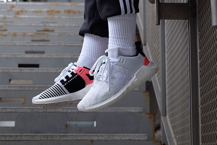 Adidas Eqt Support 9317 White Turbo Red 2