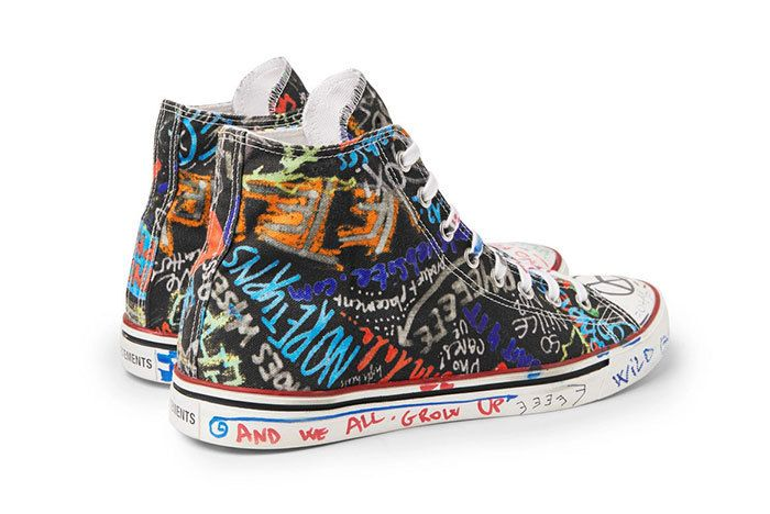 Vetements Graffiti Canvas Sneakers High Top 01 Sneaker Freaker1
