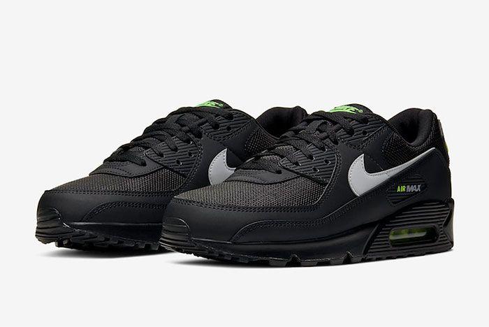 Nike Air Max 90 Black Volt Toe