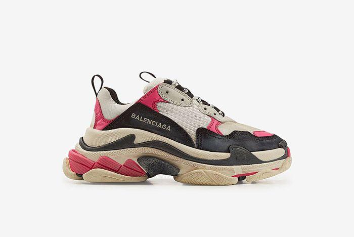 1 Triple S Balenciaga Pink Black Sneaker Freaker