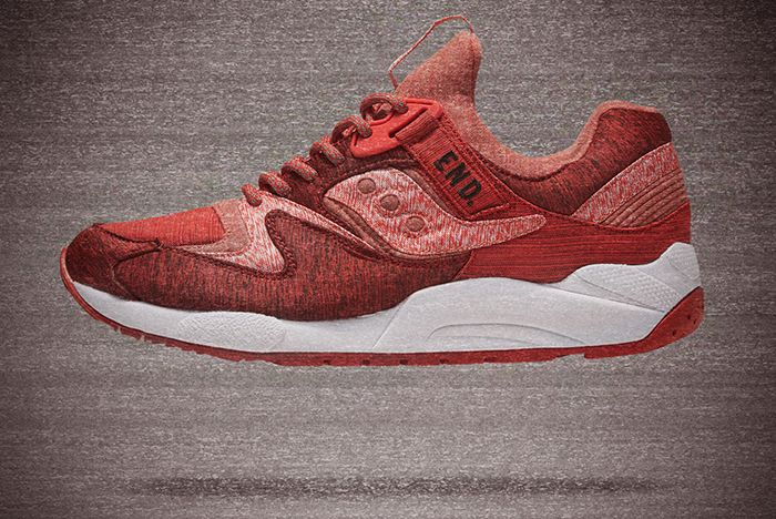 End X Saucony Grid 9000 Red Noise3