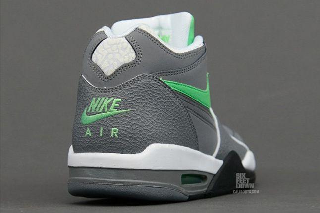 Nike Air Flight 89 Clgrey Poisongrn Heel 1