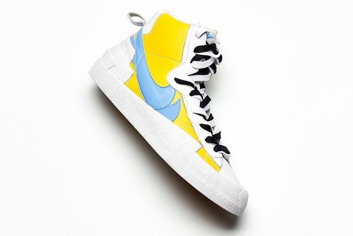 Sacai Nike Blazer Whitebaby Blueyellow Side Shot 3