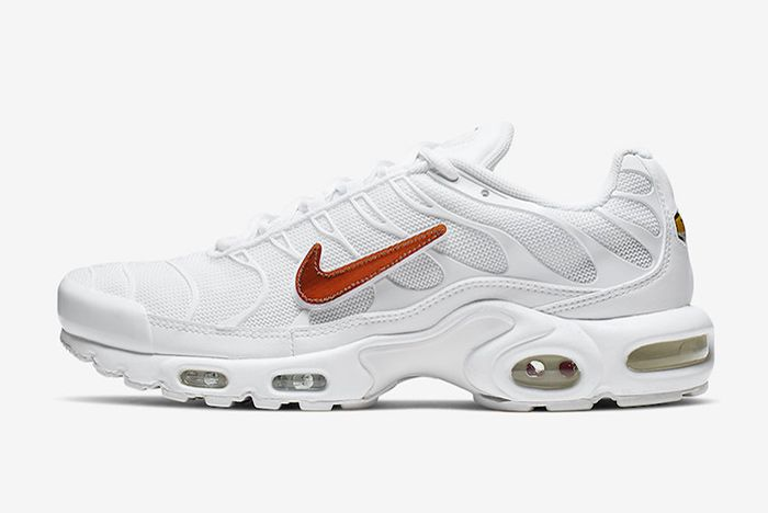 Nike Air Max Plus White Velcro Swoosh Left