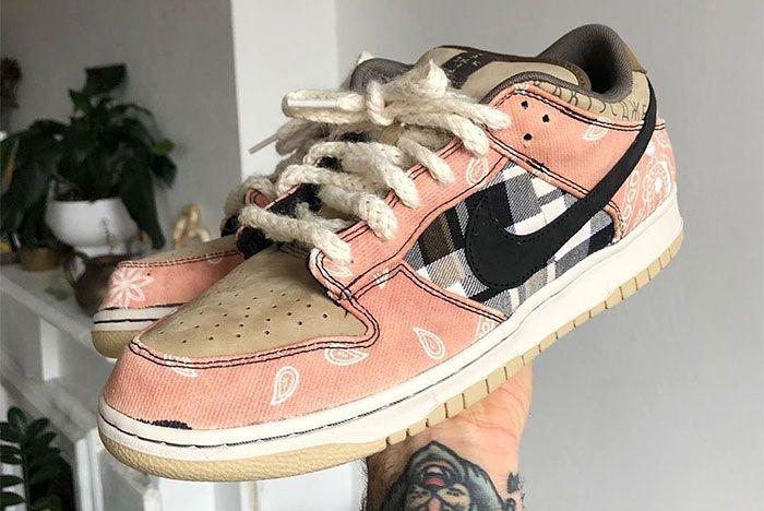 Travis Scott Nike Sb Dunk Low Custom Toe