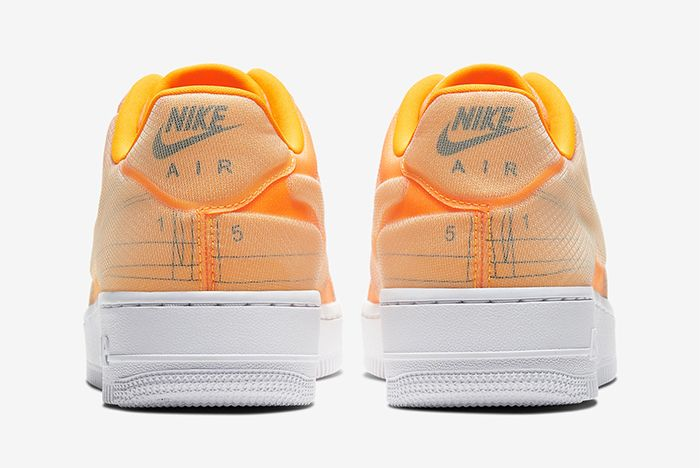 Nike Air Force 1 Low Schematic Orange Heel