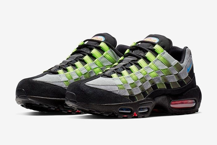 Nike Air Max 95 Woven Black Green Quarter