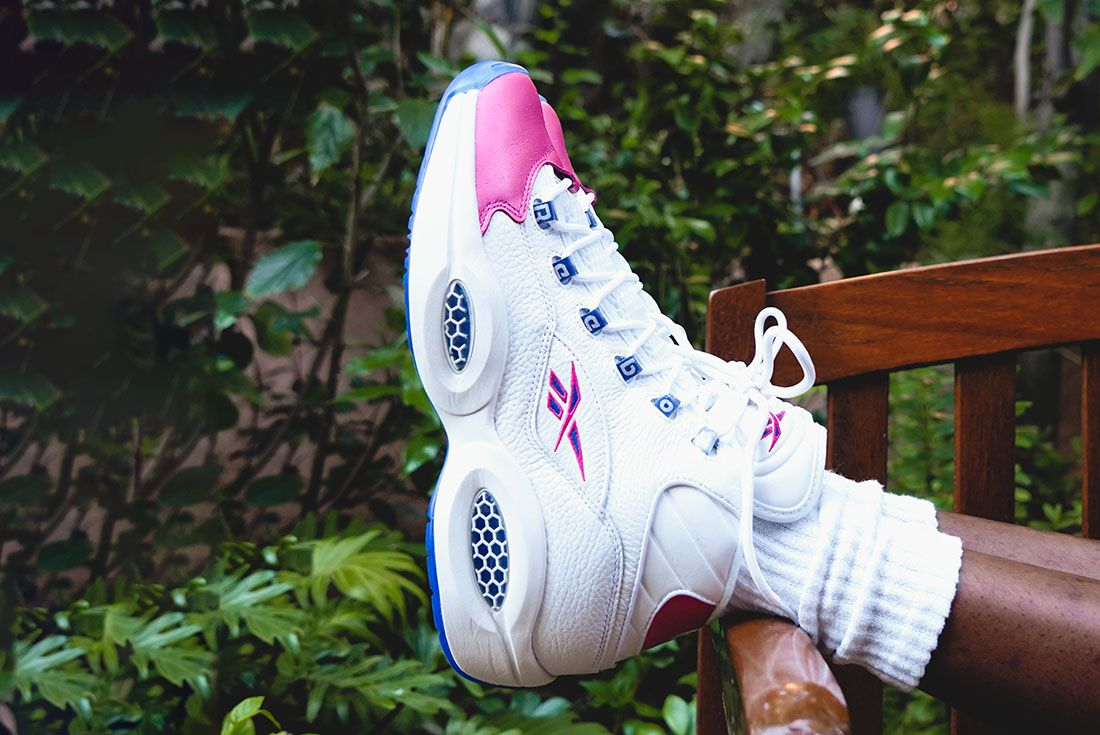 Eric Emanuel x Reebok Question Mid Pink Toe