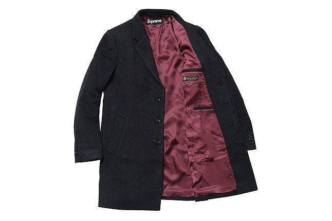 Open Wool Overcoat Black 1