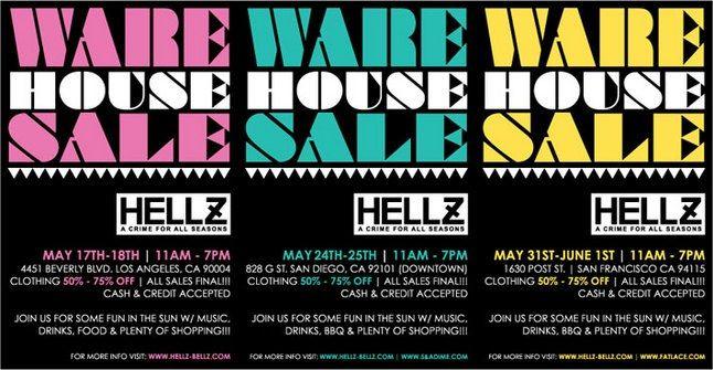 Hellz Bellz Warehouse Sale 1