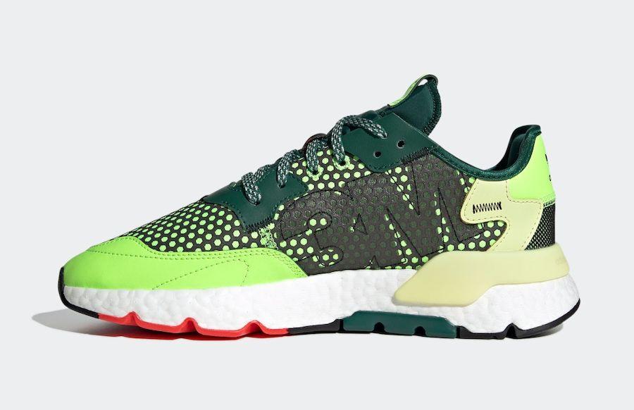 adidas Nite Jogger Signal Green Left
