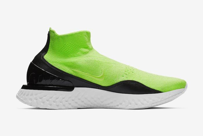 Nike Rise React Flyknit Lime Blast Medial