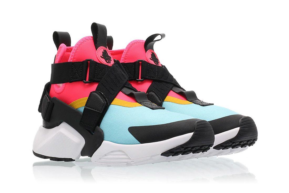 Nike Air Huarache City Bleached Aqua Racer Pink Sneaker Freaker 3