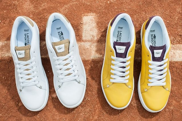 Lacoste Court Attack Purple Yellow 5