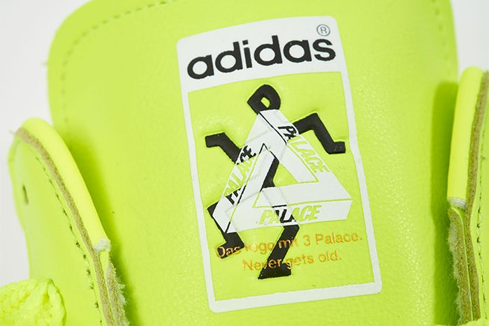 Palace Adidas Superstar 2019 Neon Yellow Release Date Tongue