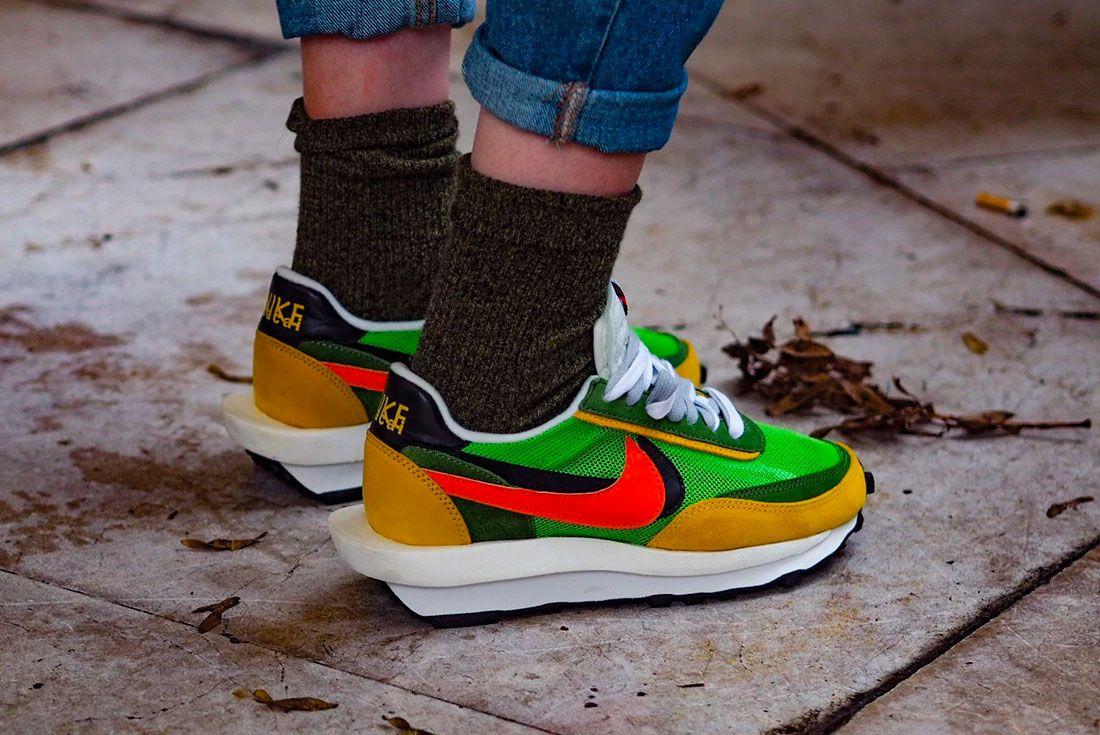 Nike Sacai Waffle Ldv On Foot