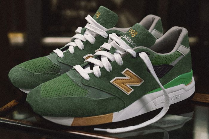 J Crew X New Balance 998 Green Back 1