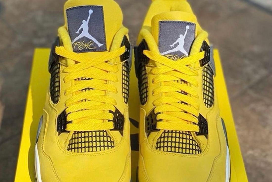Air Jordan 4 'Lightning' leaked shots