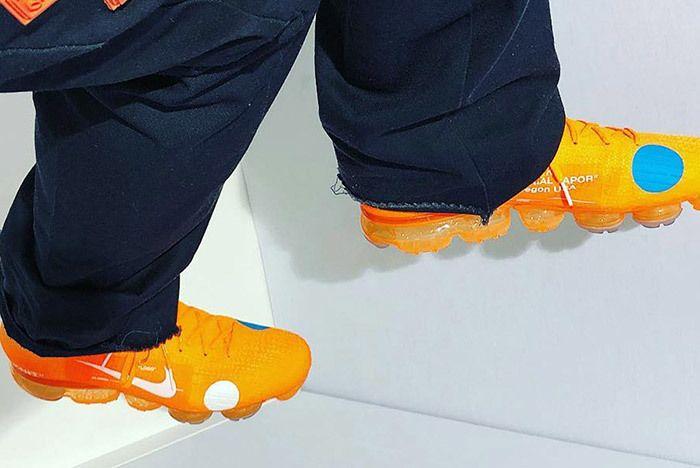 Off White Nike Vapormax Mercurial Orange Small