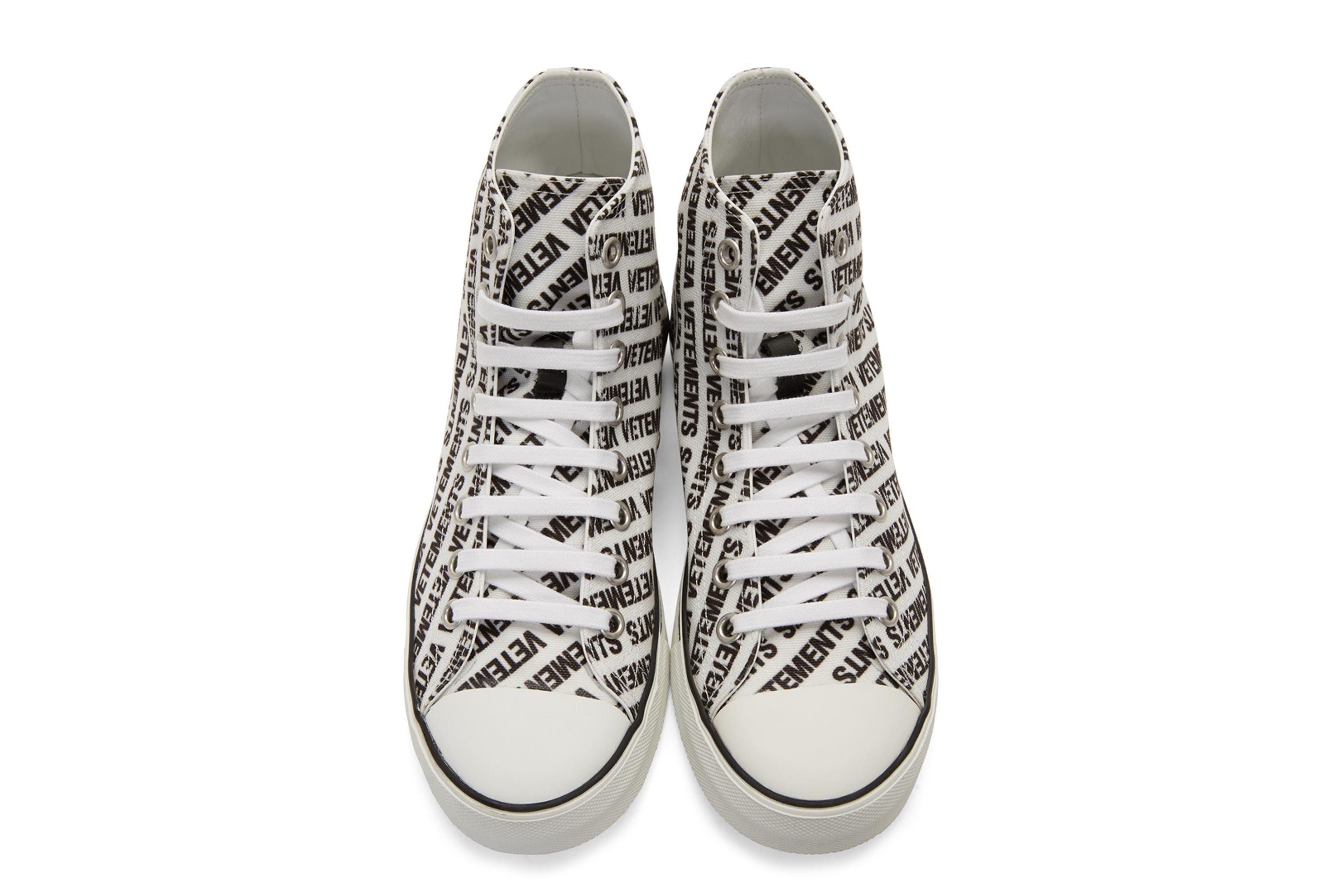 Vetements Logo High Top Sneakers Black White 5 Sneaker Freaker