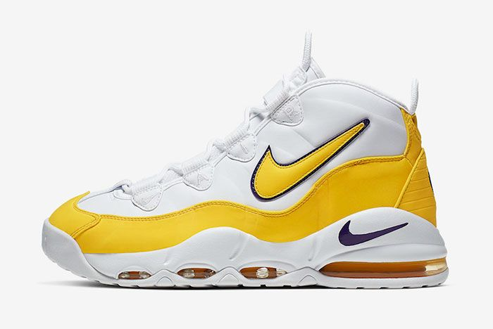 Nike Air Max Uptempo 95 White Amarillo Court Purple Ck0892 102 Lateral