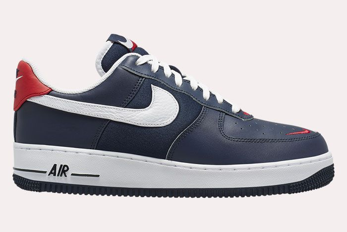 Nike Air Force 1 Low Obsidian White University Red Side