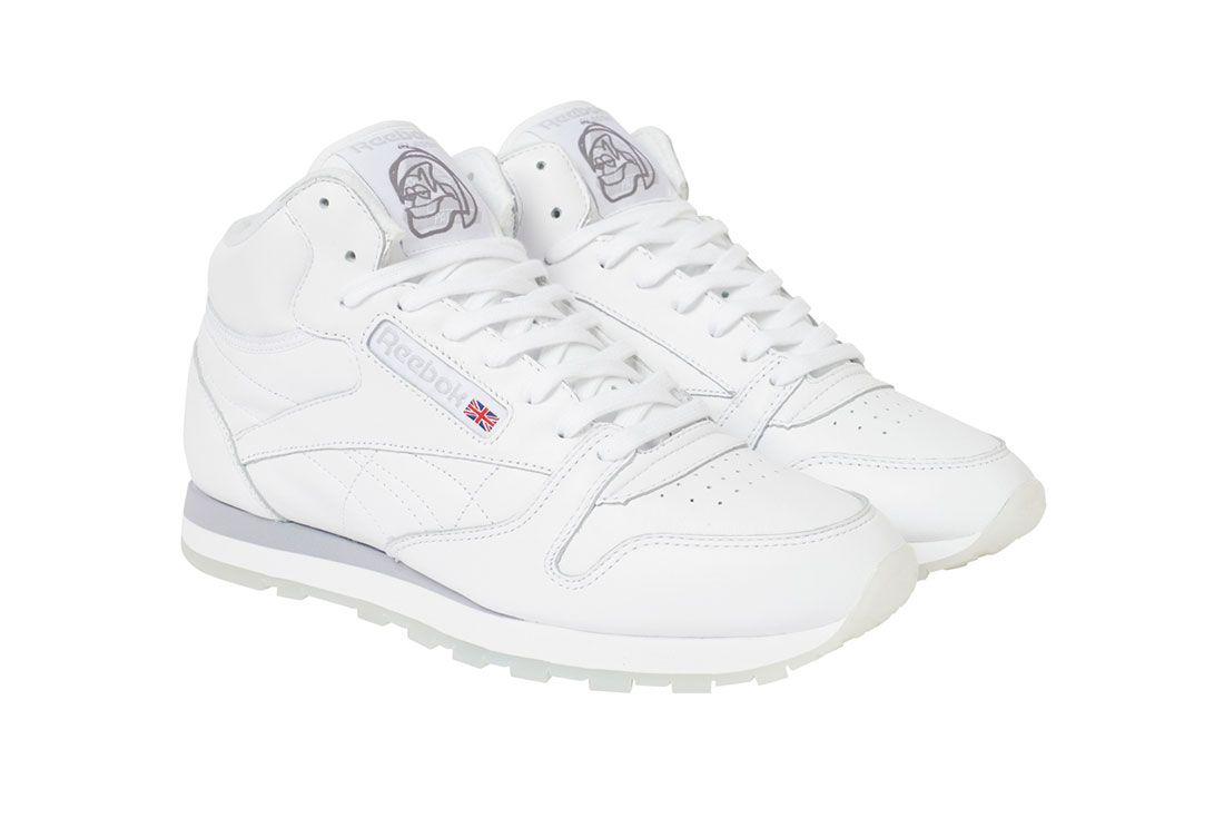 Palace Reebok Workout Mid White Three Quarter Side Shot