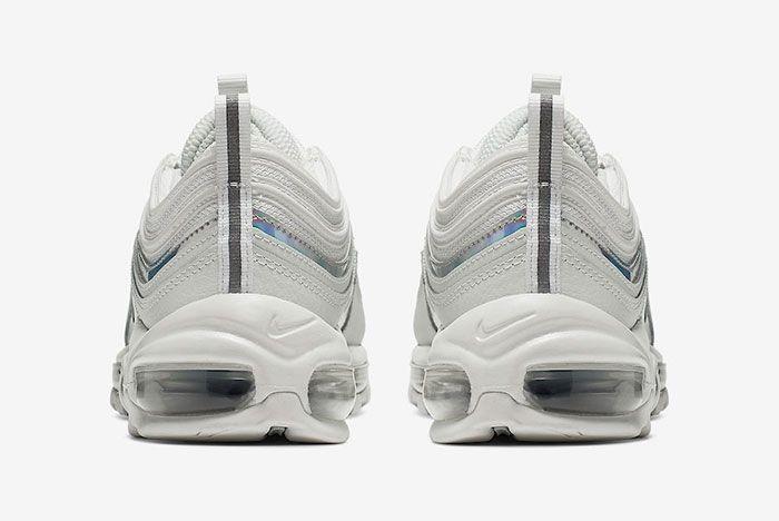 Nike Air Max 97 White Silver Iridescent Cj9706 100 Release Date Heel