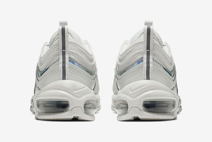 Nike Air Max 97 White Silver Iridescent Cj9706 100 Release Date Heel