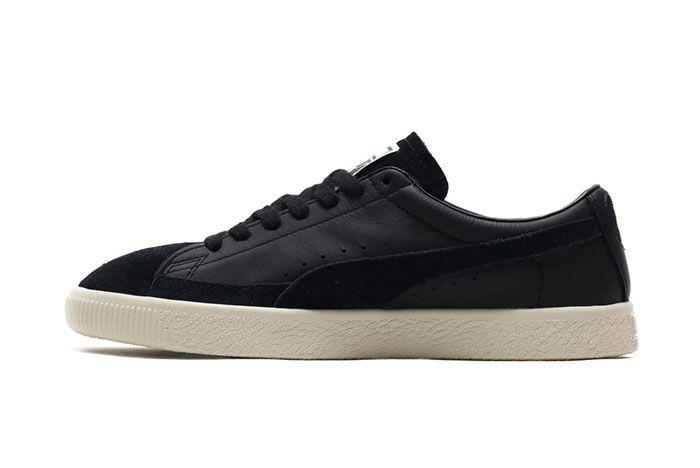 Puma Basket 90680 Black Suede Shoe Release 11 Side