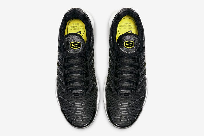 Nike Air Max Plus Black Active Yellow Cn0142 001 Top