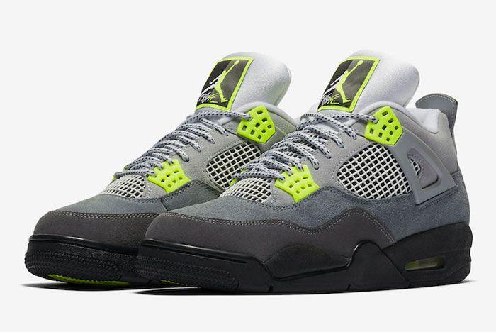 Air Jordan 4 Neon Toe