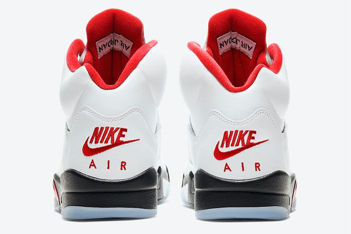Air Jordan 5 Fire Red Heel