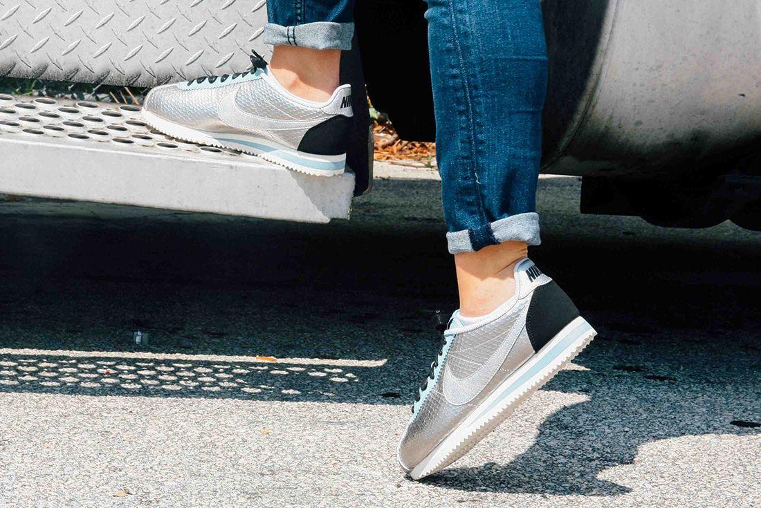 Nike Cortez Womens Metallic Silver 4