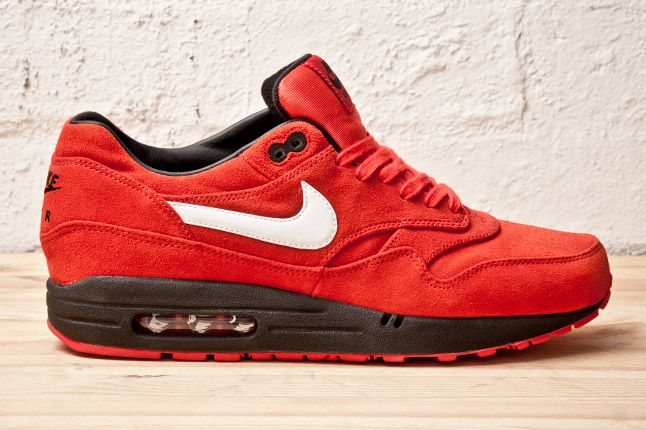 Nike Air Max 1 Prm Red Blk Side 1