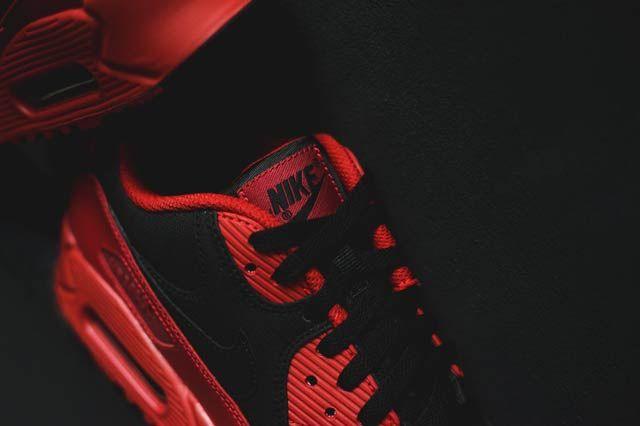 Nike Air Max 90 Gym Redblack3